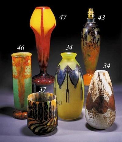 A Le Verre Francais cameo vase