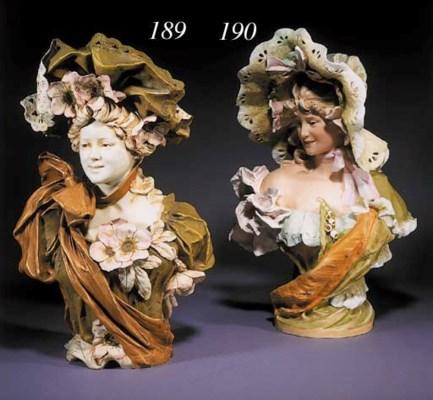 A Royal Dux pottery bust