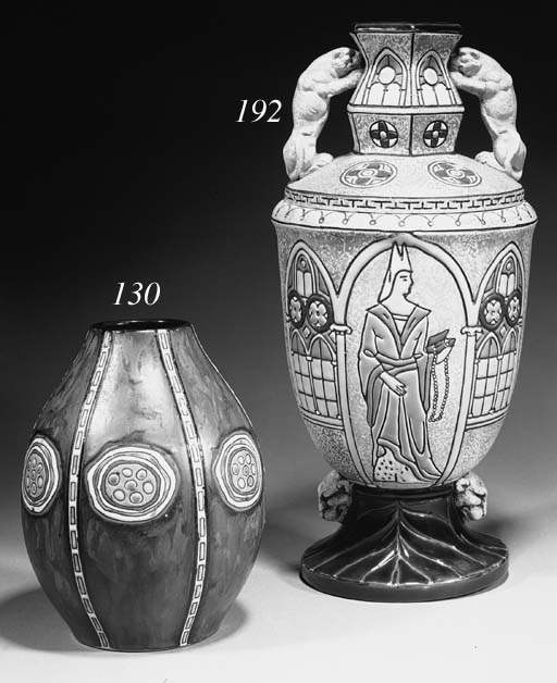 An Amphora pottery vase and co