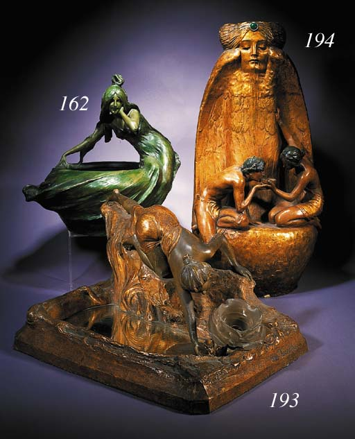A Goldscheider terracotta tabl