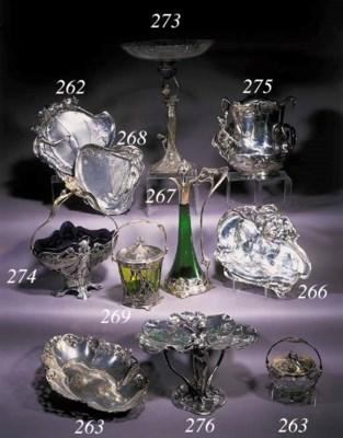 A W.M.F. silvered metal carafe