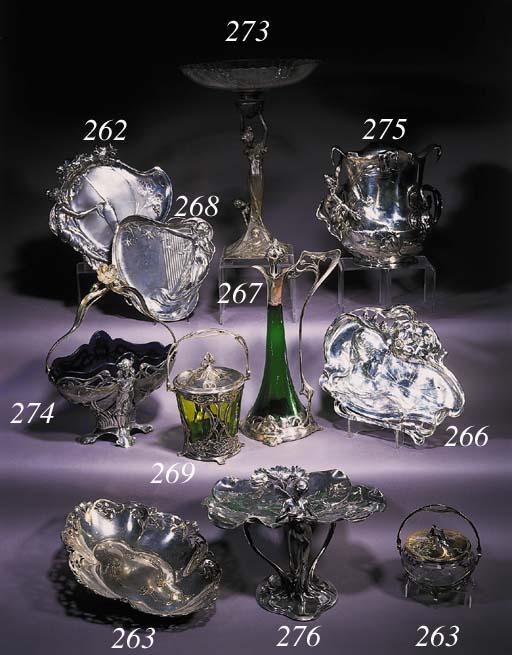 A W.M.F. silvered metal jar an