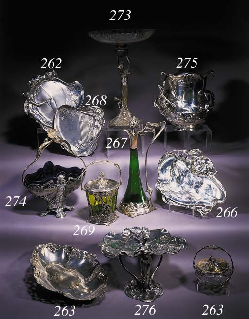 A W.M.F. Art Nouveau silvered