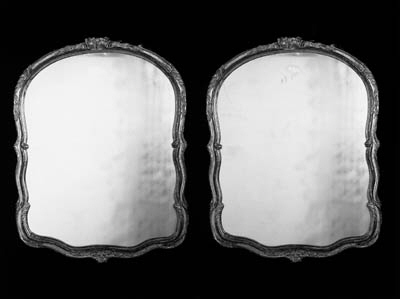 A pair of giltwood wall mirror