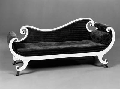 A Regency chaise longue
