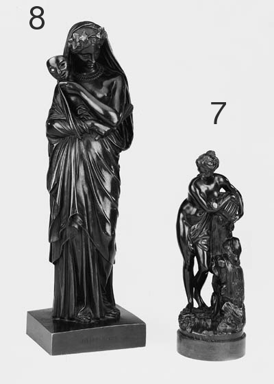 A French bronze figure of a classical maid, late 19th century