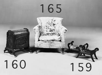 A late Victorian easy armchair