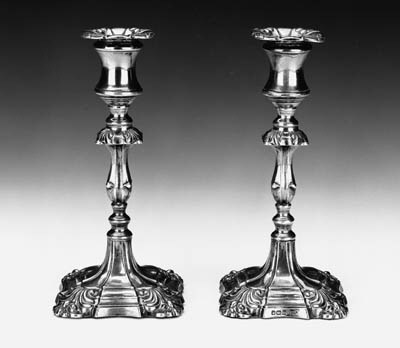 A pair of Victorian taperstick