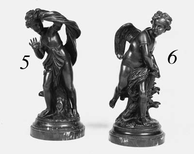 A French bronze figure of Cupi