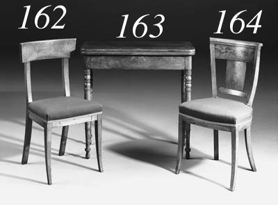 A pair of Central European mahogany side chairs