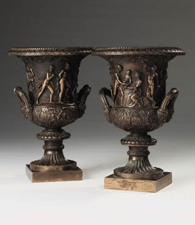 A pair of Italian bronze model