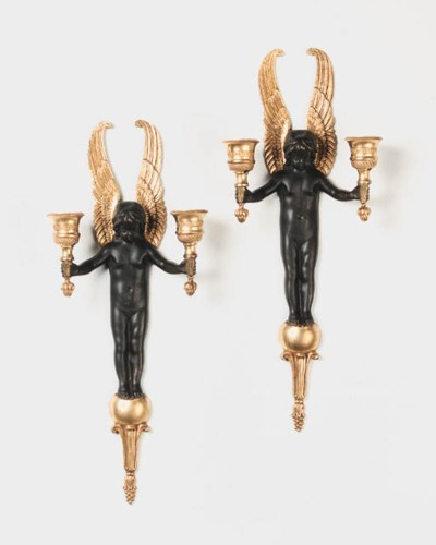 A pair of Empire style bronze