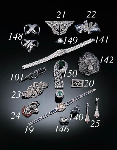 A diamond cocktail watch,
