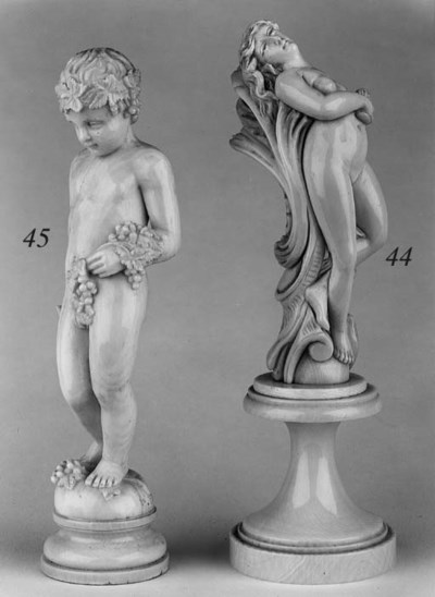 A French ivory figure of a put