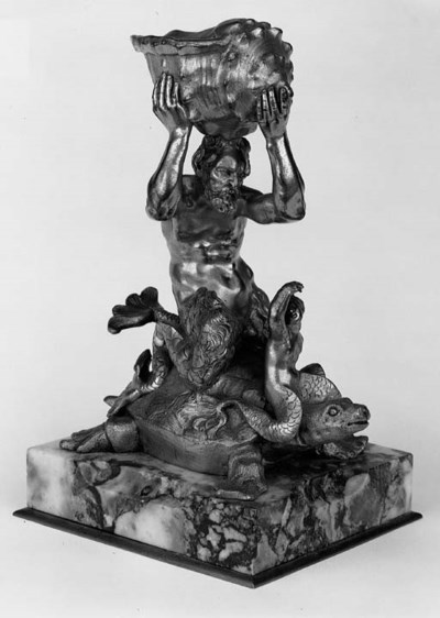 An Italian gilt bronze figurat