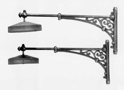 A French pair of large steel w