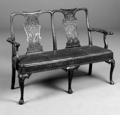 A mahogany double chairback se
