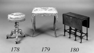 A giltwood stool, late 19th/ea