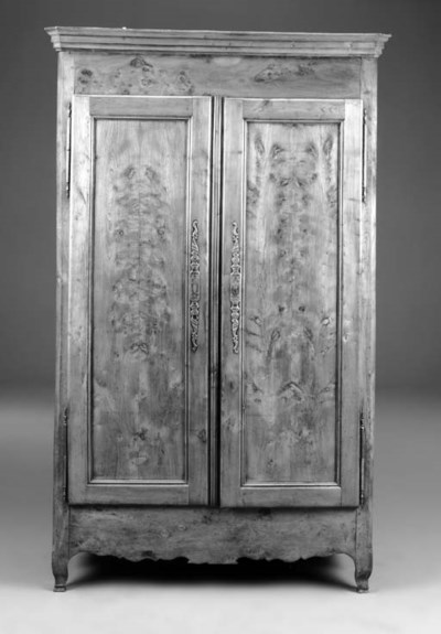 A French burr-elm armoire, 18t