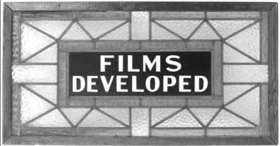 Kodak glazed window panel