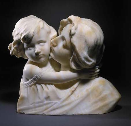 A French alabaster bust