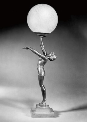 An Art Deco patinated spelter