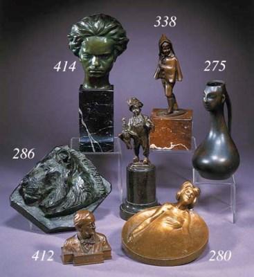 An Art Nouveau gilt bronze dis