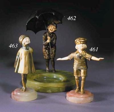 'Child with Umbrella'