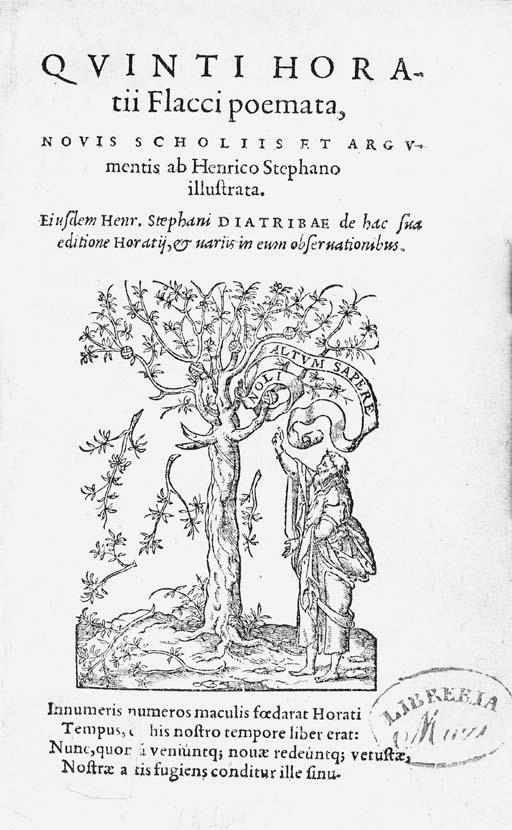 HORATIUS Flaccus, Quintus.  Po