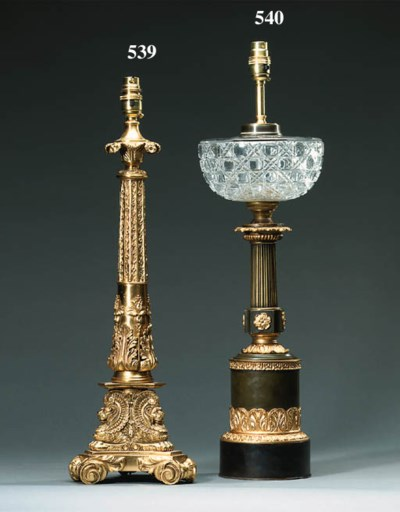 A French bronze and ormolu oil