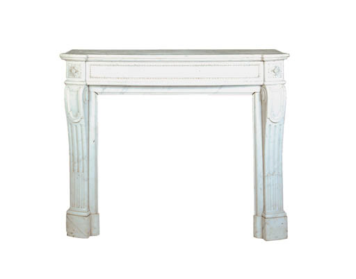 A French white marble chimneypiece