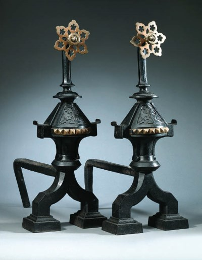 A pair of Victorian cast iron