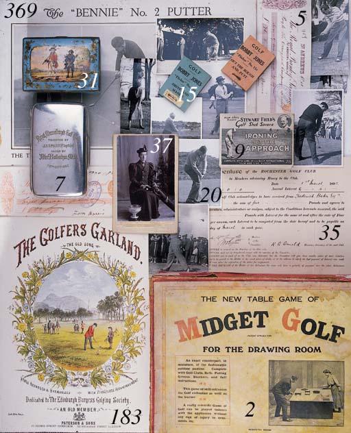 THE GOLFERS GARLAND A sheet of