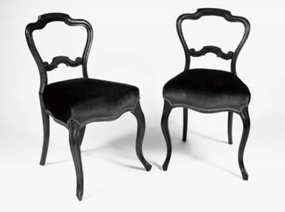 A SET OF FOUR VICTORIAN ROSEWO