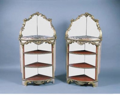 A PAIR OF VICTORIAN GILTWOOD A