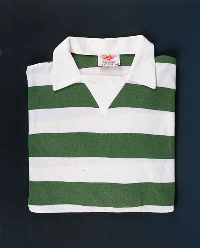 A green and white hooped Celti