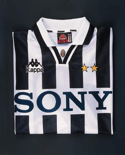 A black and white striped Juve