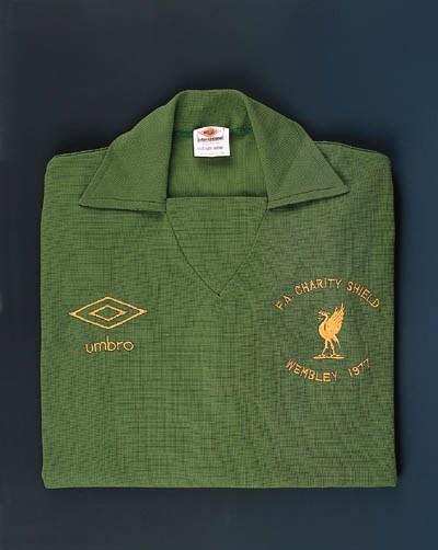 A green Liverpool goalkeeper's