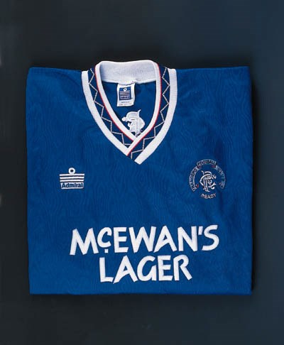 A blue Rangers shirt, No.10, w