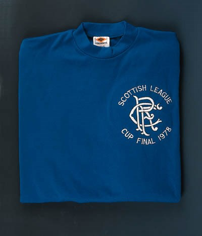 A blue Rangers League Cup fina