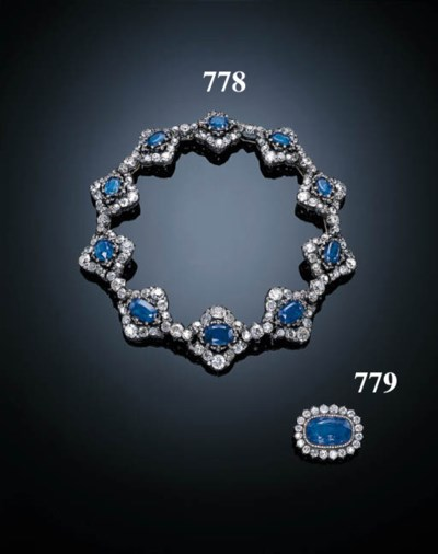 AN ATTRACTIVE ANTIQUE SAPPHIRE