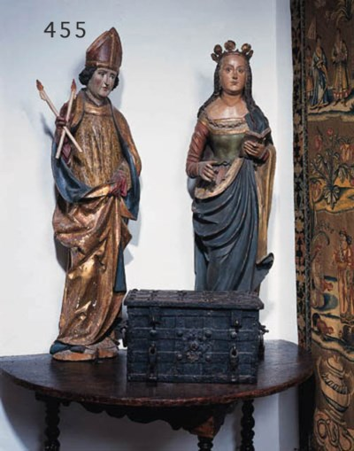 Figur eines Bischofs, Sddeutsc