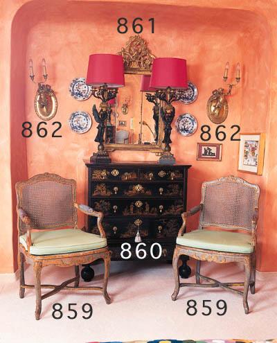 Sieben Sitzmöbel, Louis XV, Pr