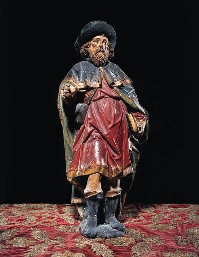 Skulptur eines Heiligen, wohl