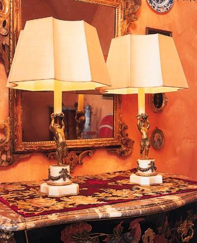 Paar Tischlampen