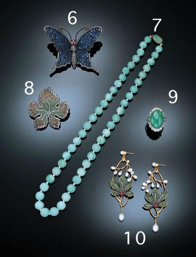 A SAPPHIRE, RUBY AND DIAMOND B