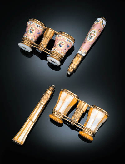 TWO PAIRS OF OPERA GLASSES, LE