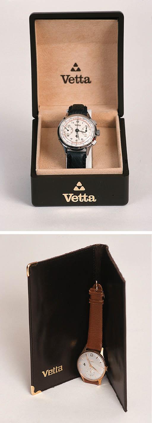 Two Ferrari Presentation watches - one set given to Luigi Villoresi by Enzo Ferrari