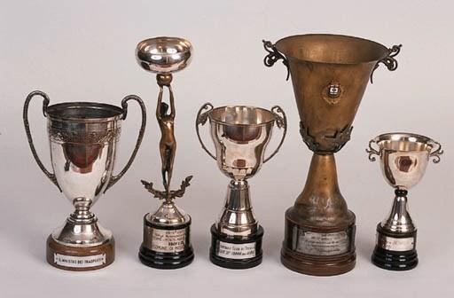 5 assorted Italian trophies -