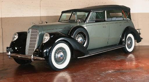 1937 LINCOLN MODEL K TOURING P